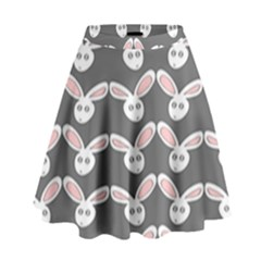Tagged Bunny Illustrator Rabbit Animals Face High Waist Skirt by Mariart