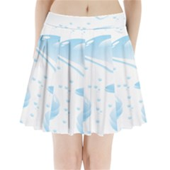 Water Drops Bubbel Rain Blue Circle Pleated Mini Skirt by Mariart