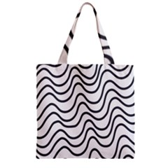 Wave Waves Chefron Line Grey White Zipper Grocery Tote Bag by Mariart