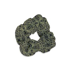 Golden Geo Tribal Pattern Velvet Scrunchie by dflcprintsclothing