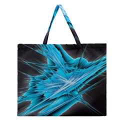 Big Bang Zipper Large Tote Bag by ValentinaDesign