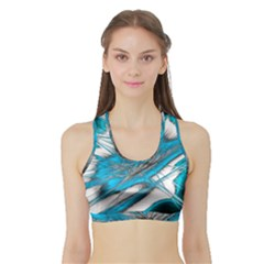 Big Bang Sports Bra With Border by ValentinaDesign