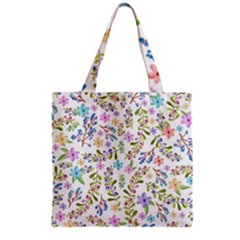 Twigs And Floral Pattern Grocery Tote Bag by Coelfen