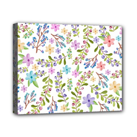 Twigs And Floral Pattern Canvas 10  X 8  by Coelfen