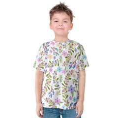 Twigs And Floral Pattern Kids  Cotton Tee