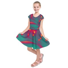 Lights Kids  Short Sleeve Dress by ValentinaDesign