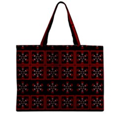 Dark Tiled Pattern Medium Zipper Tote Bag by linceazul