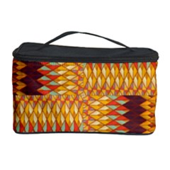Geometric Pattern Cosmetic Storage Case by linceazul