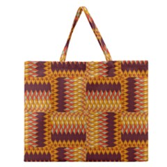 Geometric Pattern Zipper Large Tote Bag by linceazul