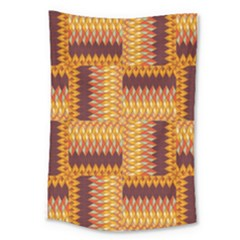 Geometric Pattern Large Tapestry by linceazul