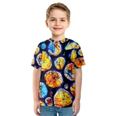 Woodpile Abstract Kids  Sport Mesh Tee