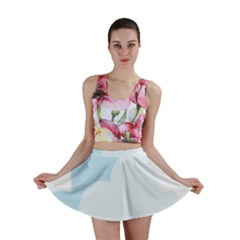 Cloud Sky Blue Decorative Symbol Mini Skirt by Nexatart