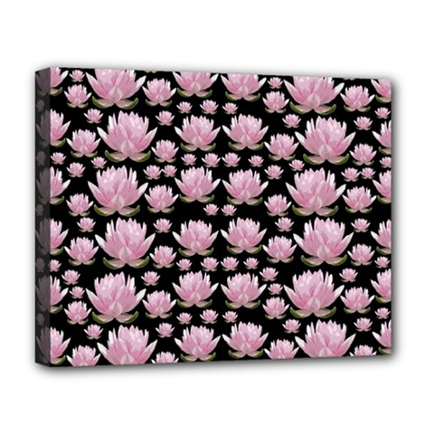 Lotus Deluxe Canvas 20  X 16   by ValentinaDesign