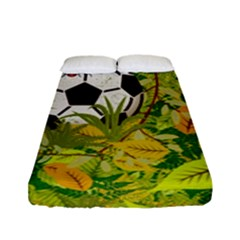 Ball On Forest Floor Fitted Sheet (full/ Double Size) by linceazul