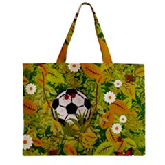 Ball On Forest Floor Zipper Mini Tote Bag by linceazul