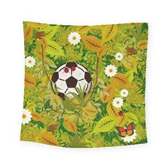 Ball On Forest Floor Square Tapestry (small) by linceazul