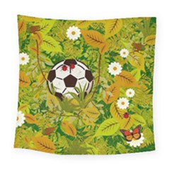 Ball On Forest Floor Square Tapestry (large) by linceazul