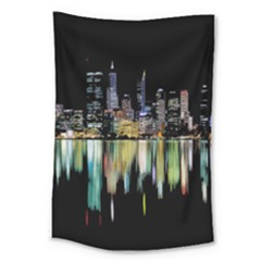 City Panorama Large Tapestry by Valentinaart