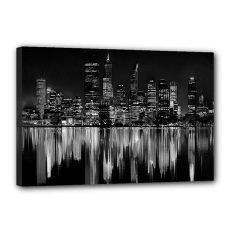 City Panorama Canvas 18  X 12  by Valentinaart