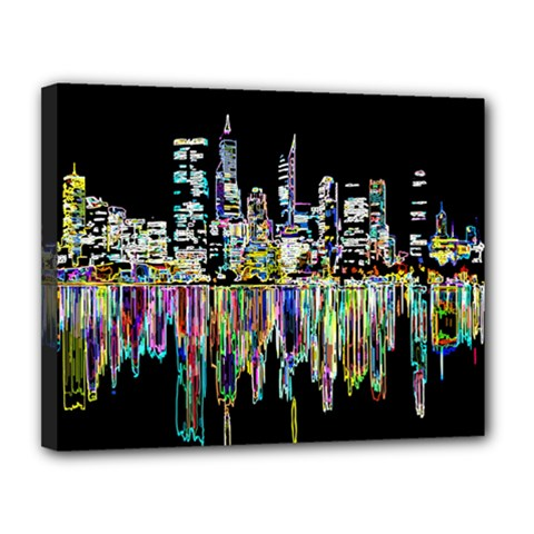 City Panorama Canvas 14  X 11