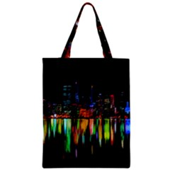 City Panorama Zipper Classic Tote Bag by Valentinaart