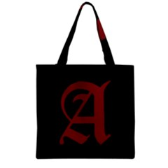 The Scarlet Letter Grocery Tote Bag by Valentinaart