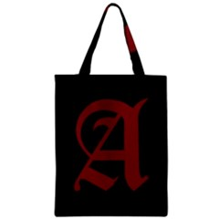 The Scarlet Letter Zipper Classic Tote Bag by Valentinaart