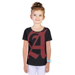 The Scarlet Letter Kids  One Piece Tee by Valentinaart