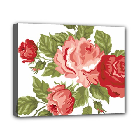 Flower Rose Pink Red Romantic Canvas 10  X 8  by Nexatart
