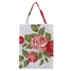 Flower Rose Pink Red Romantic Classic Tote Bag