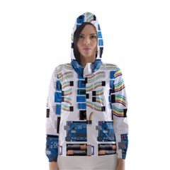 Arduino Arduino Uno Electronic Hooded Wind Breaker (women) by Nexatart