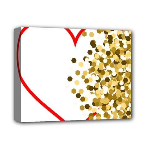 Heart Transparent Background Love Deluxe Canvas 14  X 11