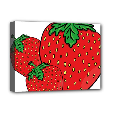 Strawberry Holidays Fragaria Vesca Deluxe Canvas 16  X 12   by Nexatart
