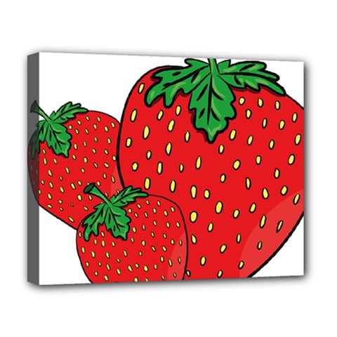 Strawberry Holidays Fragaria Vesca Deluxe Canvas 20  X 16   by Nexatart