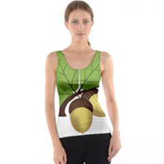 Acorn Hazelnuts Nature Forest Tank Top by Nexatart