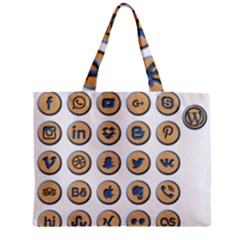Social Media Icon Icons Social Zipper Mini Tote Bag by Nexatart