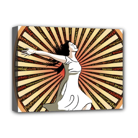 Woman Power Glory Affirmation Deluxe Canvas 16  X 12   by Nexatart