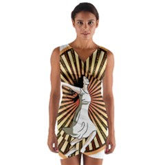 Woman Power Glory Affirmation Wrap Front Bodycon Dress by Nexatart