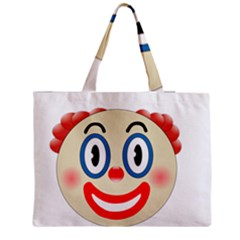 Clown Funny Make Up Whatsapp Medium Zipper Tote Bag by Nexatart