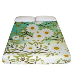 Springtime Scene Fitted Sheet (queen Size) by linceazul