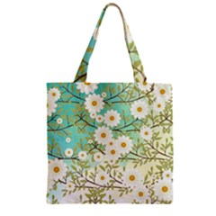 Springtime Scene Zipper Grocery Tote Bag by linceazul