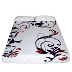 Scroll Border Swirls Abstract Fitted Sheet (california King Size)