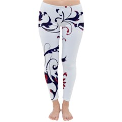 Scroll Border Swirls Abstract Classic Winter Leggings by Nexatart