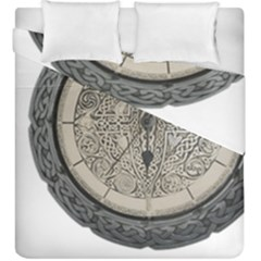 Clock Celtic Knot Time Celtic Knot Duvet Cover Double Side (king Size)