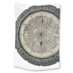 Clock Celtic Knot Time Celtic Knot Large Tapestry by Nexatart