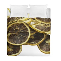 Lemon Dried Fruit Orange Isolated Duvet Cover Double Side (full/ Double Size) by Nexatart