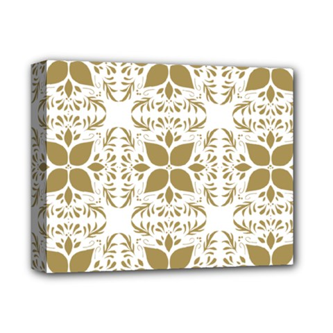 Pattern Gold Floral Texture Design Deluxe Canvas 14  X 11  by Nexatart