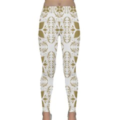 Pattern Gold Floral Texture Design Classic Yoga Leggings