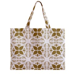 Pattern Gold Floral Texture Design Zipper Mini Tote Bag by Nexatart