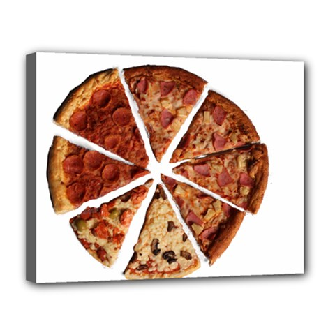 Food Fast Pizza Fast Food Canvas 14  X 11  by Nexatart